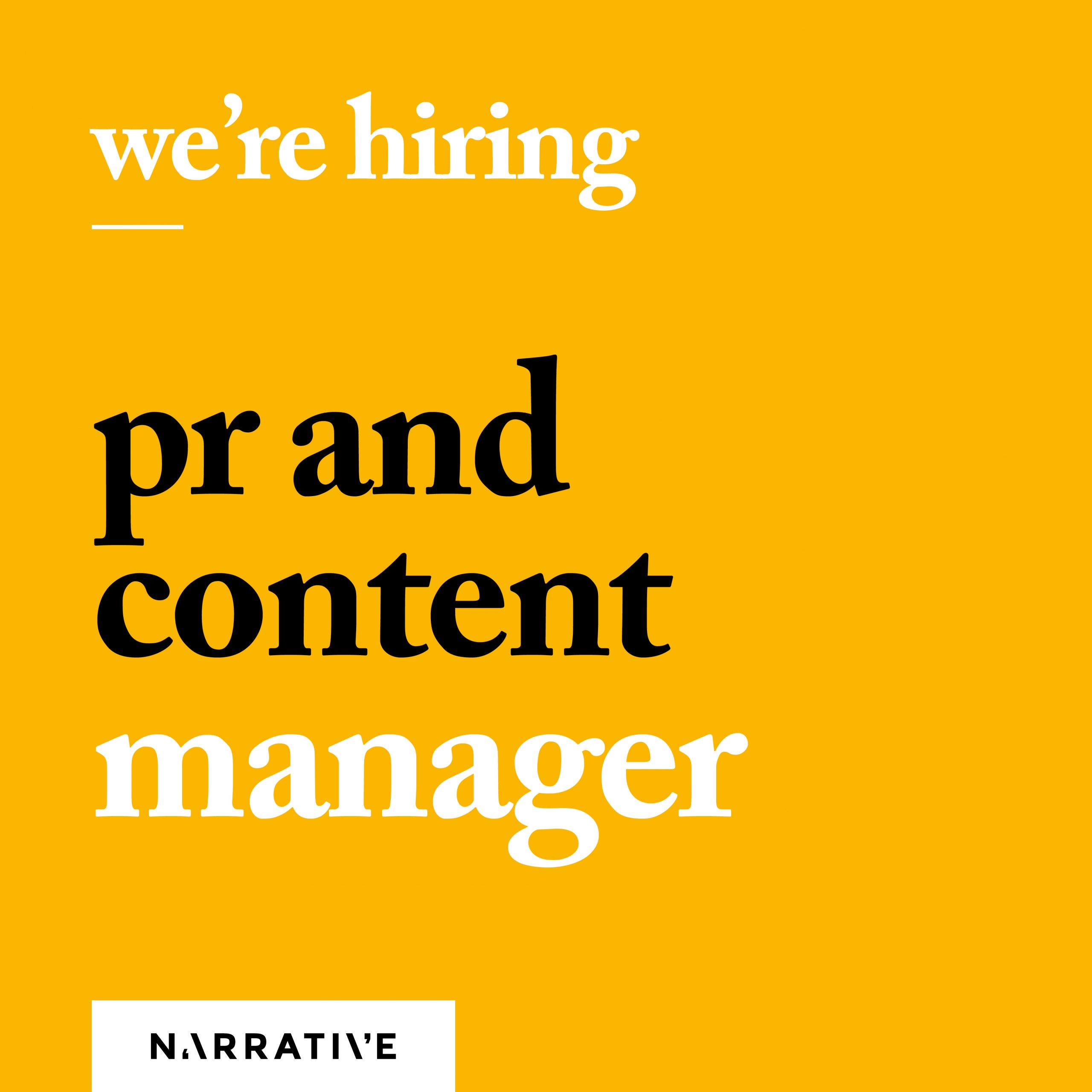 PR and Content Manager graphic